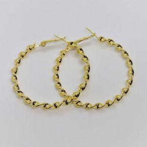 Twist Bangle Gold Plated Earrings